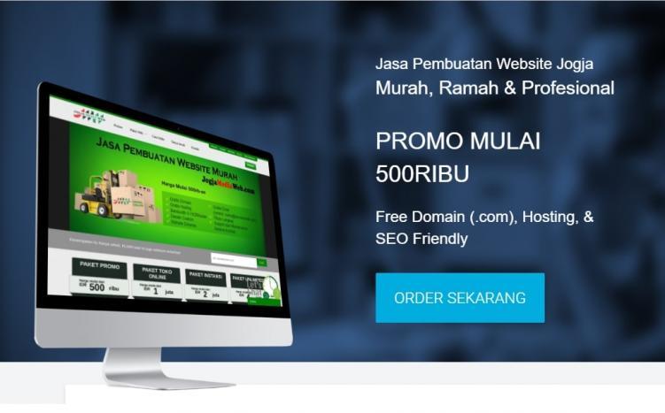 Jasa Pembuatan Website Jogja Murah Gratis Domain, SEO, & Full Suport 24 jam